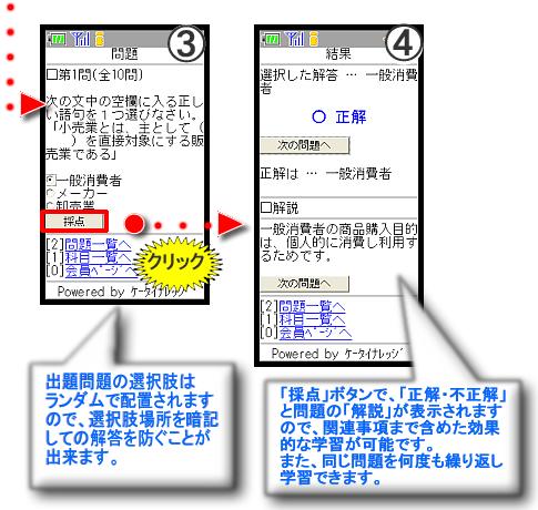 資格・教育講座画面の基本的な画面構成&イメージ画面③、④